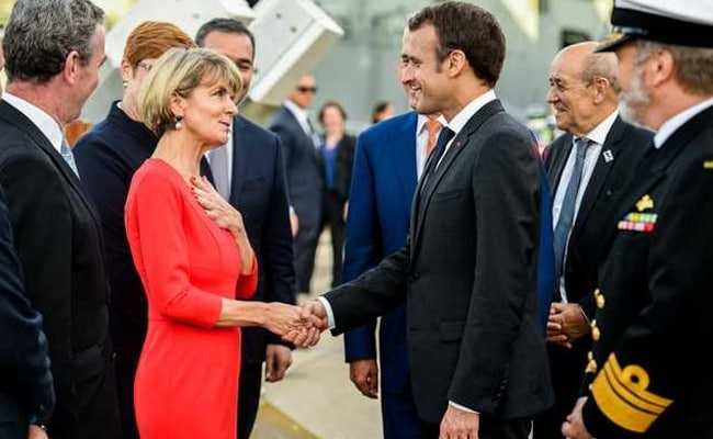 French president says 'balance' needed in Pacific