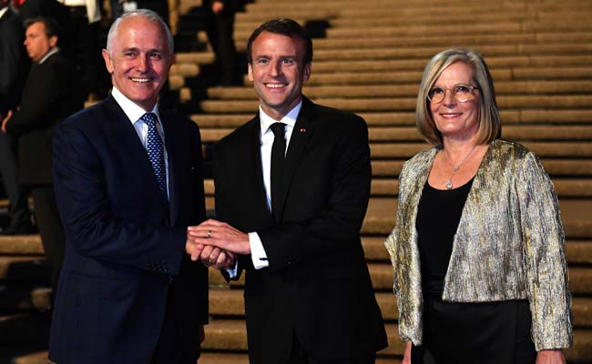 Video: Macron's 'Delicious Wife' Remark About Australian First Lady Baffles Twitter