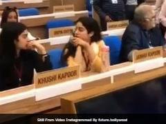 National Film Awards 2018: Janhvi, Khushi And Boney Kapoor At Rehearsal Ahead Of Ceremony