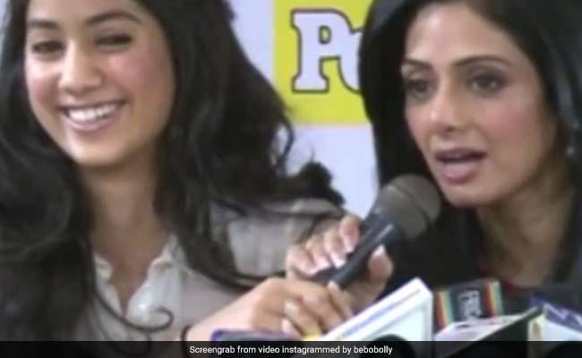 बेटी जाह्नवी की ख्वाहिश को श्रीदेवी ने ऐसे किया पूरा, रोते हुए सुनाई पूरी दास्तां