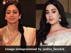 Janhvi Kapoor's National Awards <i>Saree</i> Was Worn By Sridevi At Ram Charan's Wedding