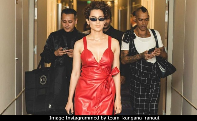 Cannes 2018: This Is How Kangana Ranaut Rolls, Fierce In Scarlet Leather