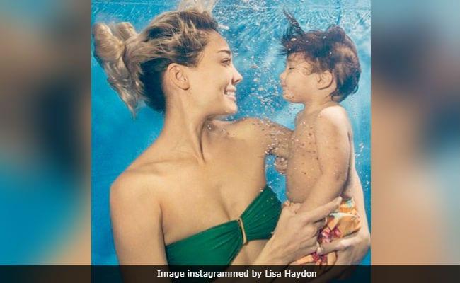 क्या आपने देखी बेटे जैक के साथ लीजा हेडन की Underwater Photo?