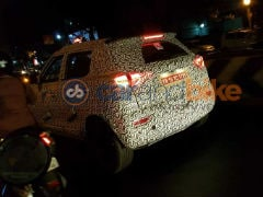 Mahindra S201 Compact SUV Shows Its Taillights In New Spy Shots