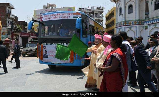 PM Modi, KP Oli Jointly Inaugurate Janakpur-Ayodhya Direct Bus Service