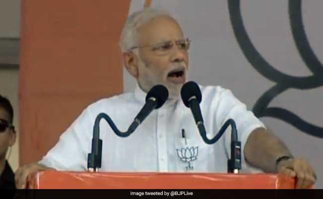 बल्लारी में बोले पीएम मोदी, बीजेपी ने भारत के एक चायवाले को देश का प्रधानमंत्री बनाया