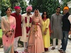 नेहा धूपिया और अंगद बेदी की शादी में शामिल हुए ये क्रिकेटर, यूं जश्न मनाता नजर आया Couple; देखें Photo