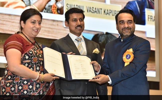 National Film Awards: श्रीदेवी का बेस्ट एक्ट्रेस अवॉर्ड लेने पहुंचीं बेटी जाह्नवी, दिव्या और पंकज त्रिपाठी को स्मृति ईरानी से मिला पुरस्कार