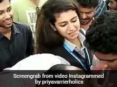VIDEO: प्रिया प्रकाश ने काटा केक, दोस्तों ने दौड़ा-दौड़ा कर चेहरे पर लगाया