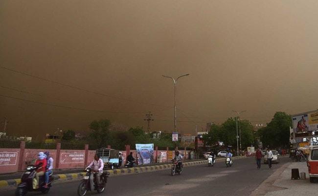 rajasthan dust storm bikaner pti