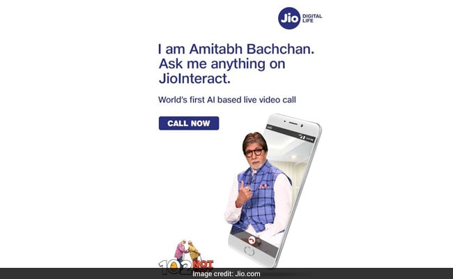 Reliance Jio New Offer: Now LIVE Video Call Amitabh Bachchan
