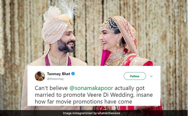 Sonam Kapoor, Anand Ahuja's Wedding Has All Of Twitter's Attention. 10 Hilarious Reactions