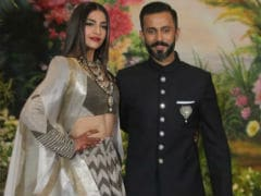 Sonam Kapoor And Anand Ahuja (In Sneakers) At Their Wedding Reception