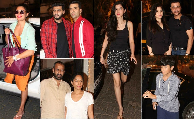 Celebrities at Anil Kapoor's residence