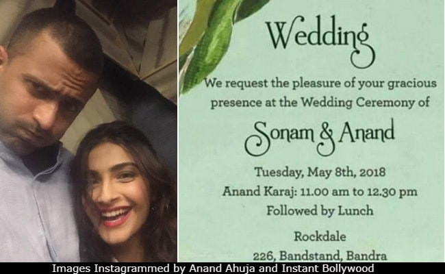 Viral: Sonam Kapoor, Anand Ahuja's Wedding Invite And Schedule
