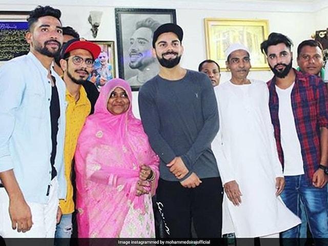 Watch: Virat Kohli, Other RCB Stars Feast On Hyderabadi Biryani At Mohammed Sirajs House