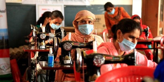 USHA Silai School's Skill Training Empowers The Vulnerable Fight COVID-19 Crisis