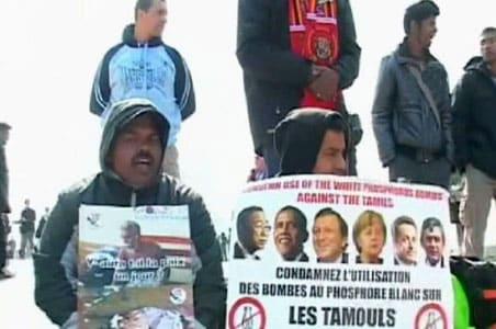 ltte supporters protest in paris. Black Bedroom Furniture Sets. Home Design Ideas