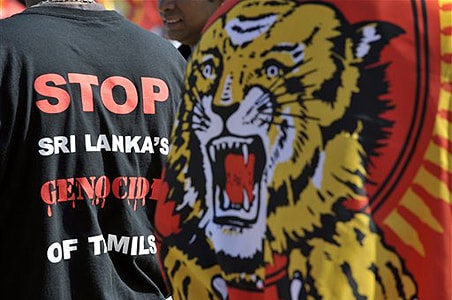 Tamils join French May Day protest