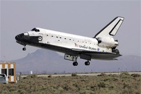 Shuttle Atlantis lands in California