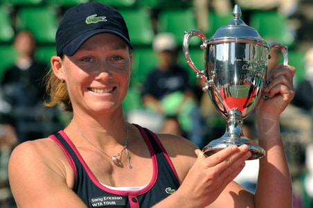 Stosur wins first singles title in Japan