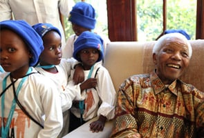 South African kids celebrate Mandela's birthday
