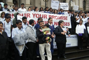 Nursing students from Kerala protest in Melbourne