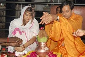 Image result for shashi tharoor sunanda pushkar marriage photos