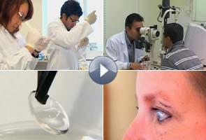 Artificial Cornea made of human collagen