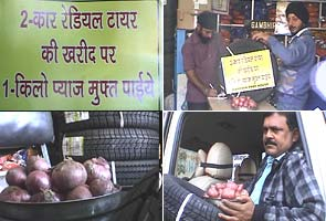 Buy a tyre, get onion for free