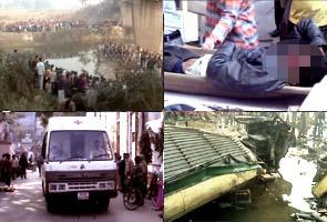 Varanasi: 12 killed as bus falls into river