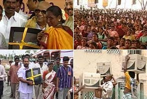 DMK stopped from handing out free colour TVs