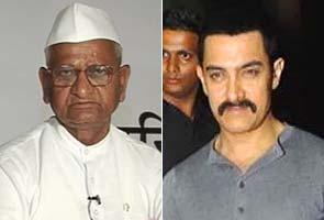 Aamir Khan pledges support to Anna Hazare