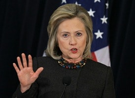 US encouraged by Indo-Pak talks: Clinton