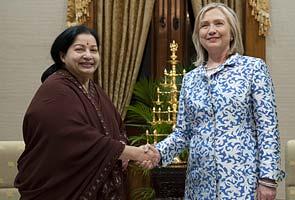 What Jayalalithaa said to Hillary Clinton