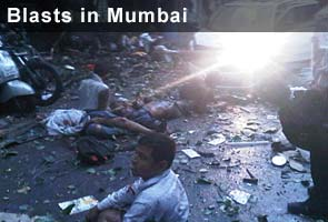 Three blasts in Mumbai, twenty dead, 113 injured