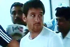 Messi arrives in Kolkata