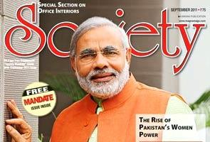 Modi's new avatar makes Society magazine cover