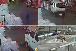 Outrage as bleeding China toddler left on street