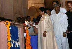 Mayawati inaugurates Rs 685-crore memorial park in Noida