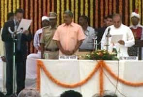 Manohar Parrikar sworn in as Goa Chief Minister