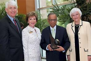 Narayana Murthy receives awards from US University