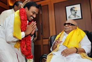 Happy to see younger brother Raja, says Karunanidhi