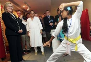 Clinton impressed by the confidence of Bihar's karate girl