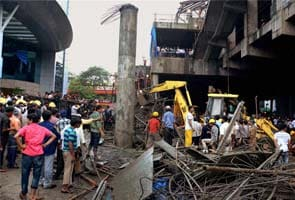 Section Of Overhead Metro Bridge Collapses In Mumbai One Killed