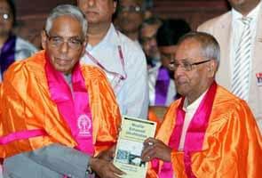 President Pranab Mukherjee rues no Indian university in world's top 200