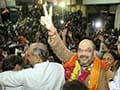 Amit Shah returns to Gujarat, accuses Congress of using CBI against him