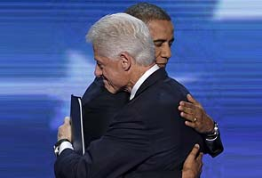 'Cool Obama burns for America', says Bill Clinton after nominating him