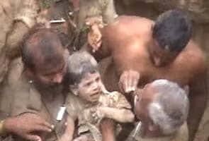 Miraculous escape for three-year-old who fell into borewell