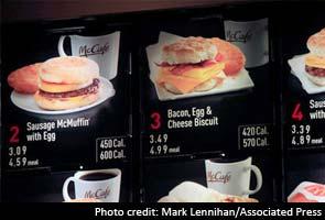 McDonald's menu to post calorie data